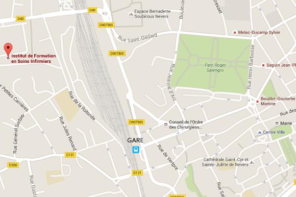 Carte d'accès à l'IFSI / IFAS de Nevers